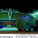 Fillmore (voiced by George Carlin) and Sarge (voiced by Paul Dooley) in Buena Vista Pictures Distribution's Cars - 2006