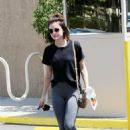 Lucy Hale in Grey Tights – Out in Los Angeles
