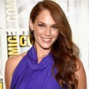 "Actress Amanda Righetti attends the ""Colony"" press line during Comic-Con International 2016 at Hilton Bayfront on July 21, 2016 in San Diego, California"