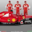 Ferrari unveil 2015 car which will be driven by Sebastian Vettel and Kimi Raikkonen - 454 x 406