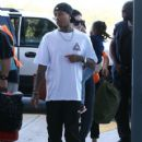 Kylie Jenner and Tyga spotted departing on a flight in Costa Rica on January 30, 2017 - 420 x 600