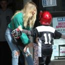 Hilary Duff – out with her kids in Studio City