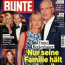 Franz Beckenbauer and Heidi Burmester - Bunte Magazine Cover [Germany] (29 December 2016)