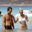 Robin Wright in Bikini at the beach in Formentera - 454 x 510