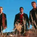 Ira (David Duchovny), Harry (Orlando Jones) and Wayne (Seann William Scott) in Dreamworks' Evolution - 2001