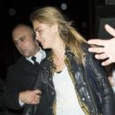 Cara Delevingne goes to see Snoop Lion DJ at The Box in Soho, London
