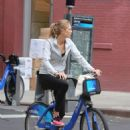 Karlie Kloss Riding A Bike In Nyc
