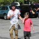 Gavin Rossdale takes his son Kingston to his soccer game in Sherman Oaks, California on April 12, 2015 - 454 x 560