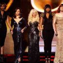 Florence Welch, Jennifer Hudson, Christina Aguilera, Martina McBride and Yolanda Adams attends The 53rd Annual Grammy Awards - 454 x 309
