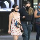 Lucy Hale – Walking around the Jewelry District in Los Angeles