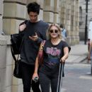 Lucy Fallon in Ripped Jeans – Out in Manchester - 454 x 721