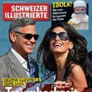 George Clooney, Amal Alamuddin - Schweizer Illustrierte Magazine Cover [Switzerland] (29 September 2014)