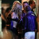 Kristen Stewart with Stella Maxwell – Seen outside a Bar in New York City