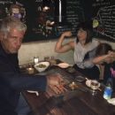 Anthony Bourdain and Ottavia Busia with their daughter - 454 x 340