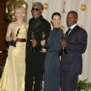Cate Blanchett, Morgan Freeman, Hilary Swank and Jamie Foxx - The 77th Annual Academy Awards - Press Room (2005)