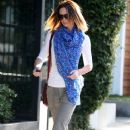 Emily Blunt: leaving the Salon Benjamin in West Hollywood