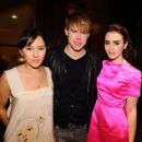 Lily Collins and Chord Overstreet - 454 x 383