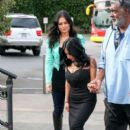 Nicole 'Snooki' Polizzi stop by the 'Extra' set January 26,2015 - 392 x 600