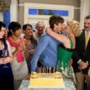 From left to right: Kristen (Casey Wilson), Amanda (LeToya Luckett), Spencer (Ashton Kutcher), Jen (Katherine Heigl), Mr. Kornfeldt (Tom Selleck), and Vivia (Katheryn Winnick) in KILLERS. Photo credit: Melissa Moseley