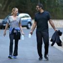 'The Walking Dead' actress Laurie Holden spotted out for a walk with a mystery man in Studio City, California on December 29, 2013 - 454 x 473