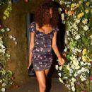 Jourdan Dunn in Mini Dress – Leaving the Ivy Chelsea in London - 454 x 706