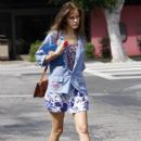 Actress Isabel Lucas and a friend spotted out and about in Los Feliz, CA.