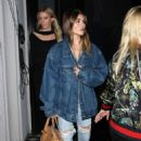 Olivia Jade Giannulli in a Denim Jacket and Ripped Jeans – Leaving Craig's in West Hollywood - 454 x 681