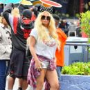 Jessica Simpson in Shorts at Disneyland