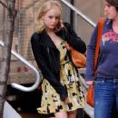 Emma Stone was spotted leaving the set of The Amazing Spiderman yesterday, April 30 in New York City!