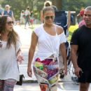Jennifer Lopez in Colorful Tights – Out in Boston