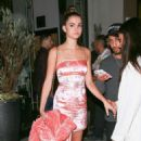 Maia Mitchell – In a short PVC Material dress leaving Catch in West Hollywood - 454 x 681