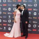 Rob Schneider and Patricia Azarcoya - Platino Awards 2017- Red Carpet - 454 x 302