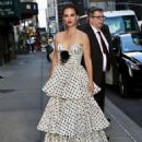 Natalie Portman – Seen while arriving to the Stephen Colbert Show in New York - 454 x 567