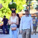 Kate Bosworth celebrates her husband Michael Polish's birthday at Disneyland