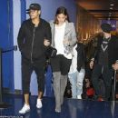 Barcelona superstar Neymar enjoys a night out at the cinema with girlfriend Bruna Marquezine as suspension rules him out of Atletico Madrid clash