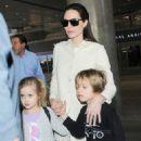 Angelina Jolie and Family at LAX (February 11, 2015)