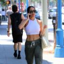 Nikki Bella in White Top – Out in Los Angeles