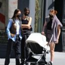 Gigi and Bella Hadid – Steps out to lunch at The Smile restaurant in Soho - 454 x 534