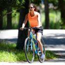 Lea Michele – Bike Riding in The Hamptons - 454 x 322