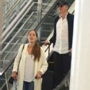 Ana Ivanovic and Bastian Schweinsteiger – Arrives at airport in Sydney - 454 x 565