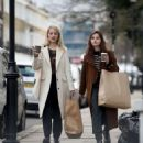 Jenna Louise Coleman and Dianna Agron – Shopping in London - 454 x 532
