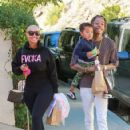 Amber Rose and Wiz Khalifa spend time with their son Sebastian in Los Angeles, California - December 16, 2015