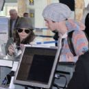 Sarah Hyland and Matt Prokop were spotted catching a flight at the airport in Vancouver today, April 20