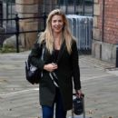 Gemma Atkinson – Leaving The Hits Radio Station in Manchester