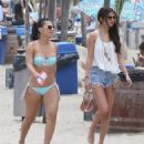 Selena Gomez & Francia Raisa enjoying a day on the beach in Malibu, California on June 23