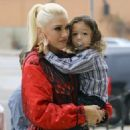 Gwen Stefani and her kids are seen leaving church in Los Angeles, California on February 5, 2017