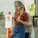 Emma Roberts – In mini skirt out in Los Feliz