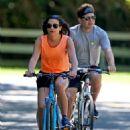 Lea Michele – Bike Riding in The Hamptons - 454 x 622