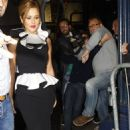 Cheryl Cole arrives at the Drury Lane Theatre to see 'Shrek the Musical October 5, 2011