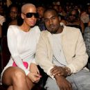 Kanye West and Amber Rose arrive at the 2009 BET Awards held at the Shrine Auditorium in Los Angeles, California - June 28, 2009 - 454 x 447